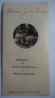 Menu Mariage Restaurant De La Porte Dorée 1931 Belle Illustration Machain Gaudiot - Menus