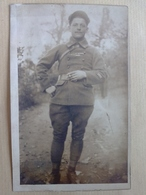 CONSTANTINOPLE   NOVEMBRE 1920  CARTE  PHOTO CARTE  DE  MILITAIRE  DANS  LE  JARDIN  DU  SERAIL - Turquie