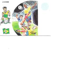 CARTE POSTALE SPORT MONDIAL 1998 LE DRIBBLE - Calcio