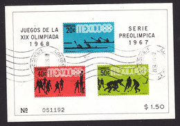 Mexico, Scott #983a, Used, Olympics, Issued 1967 - Mexique