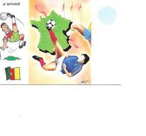 CARTE POSTALE SPORT MONDIAL 1998 LE RETOURNE - Fútbol
