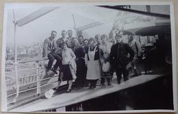 BEYROUTH LE  19 AVRIL 1931 A BORD DU  BERNADIN  DE SAINT  PIERRE (PASSAGERS- EQUIPAGE -MILITAIRES- DOUANIERS ? ) - Liban