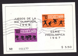 Mexico, Scott #985a, Used, Olympics, Issued 1967 - Mexique