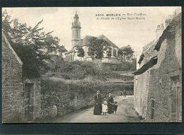 CPA - MORLAIX - Rue Poulfenc Et Abside De L'Eglise St Martin, Animé - Morlaix