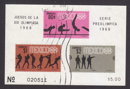 Mexico, Scott #995a, Used, Olympics, Issued 1968 - Mexique