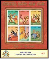 1998 - GUYANA - Cinese New Year – Year Of The Tiger - Guiana (1966-...)