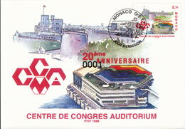 N° 2192 Centre De Congres 12/02/1999 - Maximumkarten (MC)