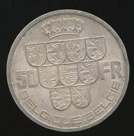 LEOPOLD III 50 FR ARGENT 1939  MOOIE STAAT  FR/VL - 2 SCANS - 1934-1945: Leopold III