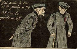 Illustrateur Sager, 2 Vieux Militaires, J'ai Perdu Le Bras. - Ilustradores & Fotógrafos