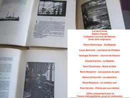 Lot De 9 Livres Édition Fayard, Collection Le Livre De Demain (avec Bois Originaux) : Pierre Dominique /Louis Bertrand/G - Books, Magazines, Comics