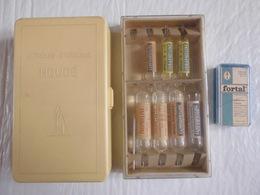 Ampoules Pharmaceutique Houdé Strychnine Millot Camphophyline Fortal Pentazicine - Matériel Médical & Dentaire