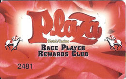 Plaza Casino Las Vegas NV - Slot Card - Casino Cards