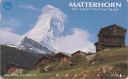 RARE Télécarte Japon / 110-74766 - SUISSE Montagne MATTERHORN & ZERMATT - Mountain Japan Phonecard Switzerland  Site 175 - Montagnes