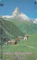 TC Ancienne Japon / 110-011 - SUISSE Montagne MATTERHORN - Mountain Japan Front Bar Phonecard Switzerland - Site 177 - Montagnes