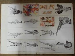 43 Reproductions A4 Affiche Dessin Brenot Nombreuses En Recto Verso Pin Up Érotique. - Prenten & Gravure