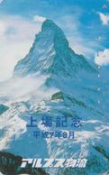 Télécarte Japon / 110-011 SURCHARGE - SUISSE Montagne MATTERHORN - Mountain Japan Phonecard Switzerland - Site 179 - Montagnes