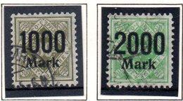 Württemberg Dienstmarken Ziffer(n) In Raute Mit Geändertem Aufdruck Mi 171/72, Gestempelt - Wuerttemberg