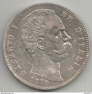 Italia, Regno, Umberto I, 5 L. Ag. Scudo 1879R. - 1861-1946 : Regno