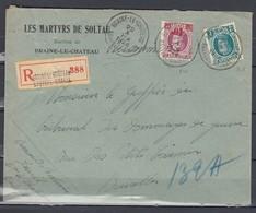 Aangetekende Brief Van Braine Le Chateau Naar Bruxelles - 1922-1927 Houyoux