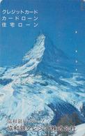 Télécarte Privée Japon  - SUISSE Montagne MATTERHORN - Mountain Japan Credit Phonecard Switzerland - Site 180 - Montagnes