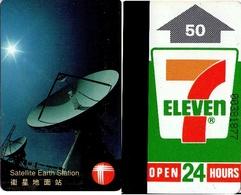 TARJETA TELEFONICA USADA DE HONG KONG. SATELLITE EARTH STATION (018) - Hong Kong