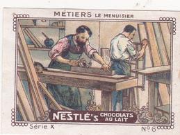 Chromo Publicitaire 4 X 6 Les Métiers Le Menuisier - Nestlé