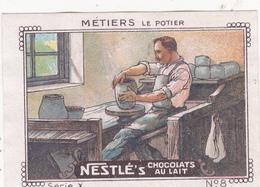 Chromo Publicitaire 4 X 6 Les Métiers Le Potier - Nestlé