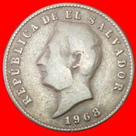 # USA (1921-1972): EL SALVADOR ★ 10 CENTAVOS 1968! LOW START ★ NO RESERVE! Morazan (1792-1842) - El Salvador
