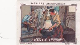Chromo Publicitaire 4 X 6 Les Métiers Le Maréchal-Ferrant - Nestlé