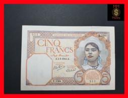 Algeria  5 Francs 2.8.1941  P. 77  VF+ Tears - Algeria
