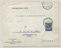 Nederlands Indië - 1910 - 12,5 Cent Veth Van GR BUITENZORG Via KB WELTEVREDEN Naar Wien / Österreich - Nederlands-Indië