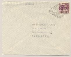 Nederlands Indië - 1937 - 2 Cent Karbouwen Met Propagandastempel VOLKENBOND CONFERENTIE Lokaal Bandoeng - Nederlands-Indië