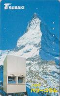 Télécarte Japon / 110-011 - SUISSE Montagne MATTERHORN ** TSUBAKI ** - Mountain Japan Phonecard Switzerland - Site 185 - Gebirgslandschaften