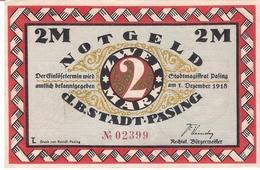 Deutschland Notgeld 2 Mark Mehl1050.2 PASING /21M/ - [11] Local Banknote Issues