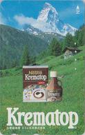 Télécarte Japon / 110-016 - SUISSE Montagne MATTERHORN * CAFE NESTLE * - Mountain Japan Phonecard Switzerland - Site 187 - Gebirgslandschaften