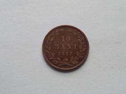 1867 Heaton - 10 BANI / KM 4.1 ( Uncleaned - For Grade, Please See Photo ) ! - Roumanie