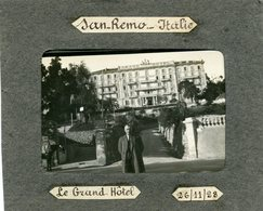 ITALIE - Photo De SAN REMO: Le Grand Hôtel, 26/11/1928 - Lieux