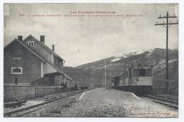 66- SAILLAGOUSE  - La Gare De Chemin De Fer électrique --RECTO/VERSO- B27 - Francia