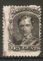 NEWFOUNDLAND 1870 10c SG 32 FINE USED MEDIUM WHITE PAPER Cat £48 - Newfoundland