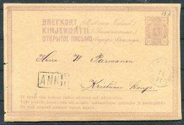 1876 Finland Stationery Postcard Nikolaistad - 1856-1917 Russian Government