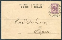 1920 Finland Stationery Postcard Wasa - Finland