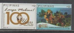 PHILIPPINES, 2018, MNH, LARGO MABINI, CORALS, DIVING,2v - Marine Life
