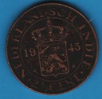 Netherlands East Indies  2½ CENTS 1945 P KM# 316  NEDERLANDSCH INDIE - [ 4] Kolonien