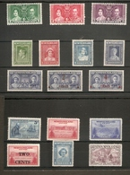 NEWFOUNDLAND 1937 - 1947 COMMEMORATIVE SETS UNMOUNTED MINT/LIGHTLY MOUNTED MINT Cat £27+ - Newfoundland