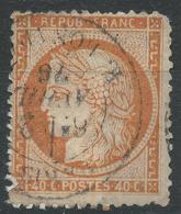 Lot N°44257  Variété/n°38, Oblit Cachet à Date De PARIS (R. Bonaparte), Fond Ligné, Filet NORD Absent - 1870 Siege Of Paris