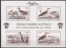 TAAF 2014 - Oiseaux Marins Austraux : De L'imaginaire Au Réel - Blocs-feuillets
