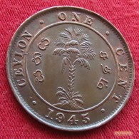 Sri Lanka Ceylon 1 Cent 1945 KM# 111a - Sri Lanka