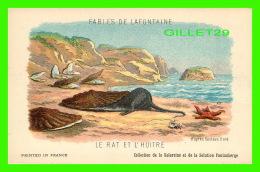 FABLES DE LAFONTAINE D'APRÈS GUSTAVE DORÉ - LE RAT & L'HUITRE - COLLECTION KOLARSINE & SOLUTION PATTAUBERGE - - Contes, Fables & Légendes