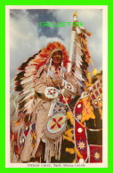 INDIENS - INDIAN CHIEF, BANFF, ALBERTA - TRAVEL IN 1952 -  ASSOCIATED SCREEN NEWS LIMITED - - Indiens De L'Amerique Du Nord