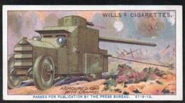 Vieux Papiers > Chromos & Images > Non Classés Wills S Cigarettes  MILITARY MOTORS ARMOURED CAR  N°2 - Old Paper